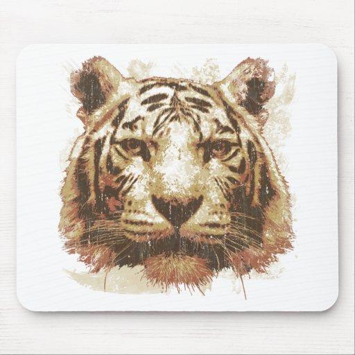 Tiger Print Light Mouse Pads