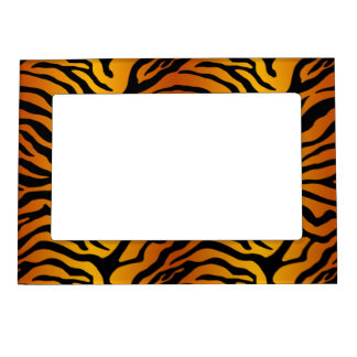 Tiger print magnetic picture frame