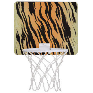 Tiger Print Mini Basketball Hoop
