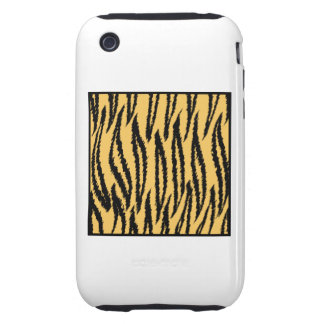 Tiger Print. Orange and Black Pattern. Tough iPhone 3 Covers