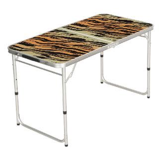 Tiger Print Pong Table