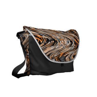 Tiger Print Safari Illusion modern Stripe Messenger Bags