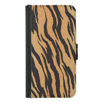 Tiger Print Samsung Galaxy S5 Wallet Case