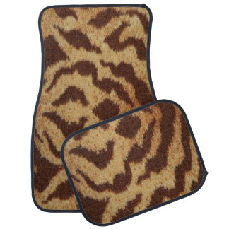 Tiger Print Set of 4 Car Mats