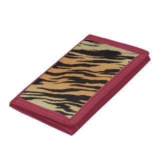 Tiger Print Tri-fold Wallet