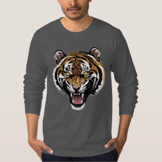 Tiger Printed Men Long Sleeve T-Shirt