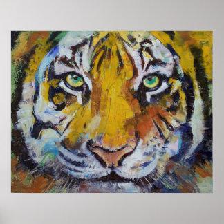 Tiger Psy Trance Print