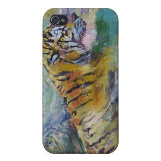 Tiger Reflections iPhone 4 Cases
