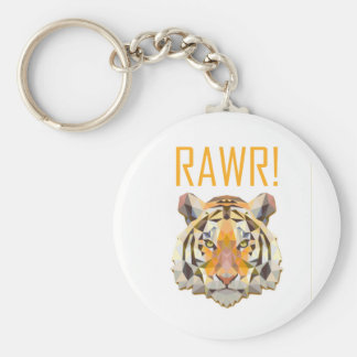 Tiger Roar Rawr Animal Cat Fun Key Ring