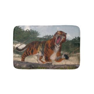 Tiger roaring - 3D render Bath Mat