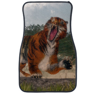 Tiger roaring - 3D render Car Mat