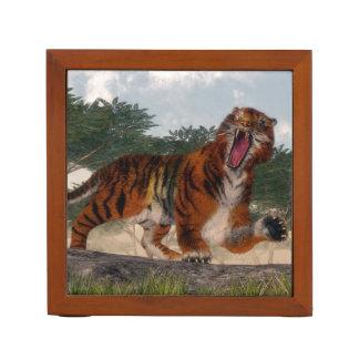 Tiger roaring - 3D render Desk Organiser