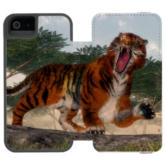 Tiger roaring - 3D render Incipio Watson™ iPhone 5 Wallet Case