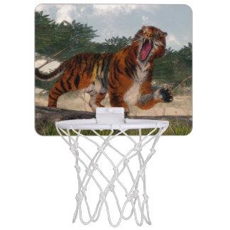 Tiger roaring - 3D render Mini Basketball Hoop