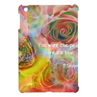 Tiger, roses and good message iPad mini cases