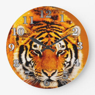 Tiger Round Wall Clock