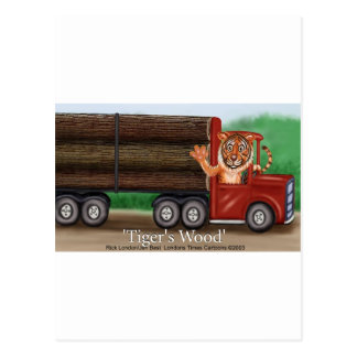 Tiger s Wood Hauling Co Funny Gifts Collectibles Postcard