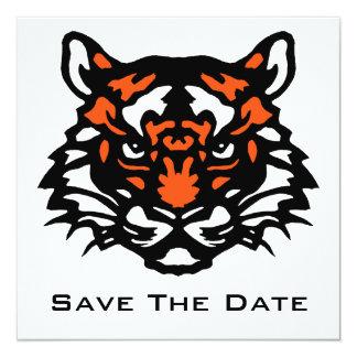 Tiger Save The Date 13 Cm X 13 Cm Square Invitation Card