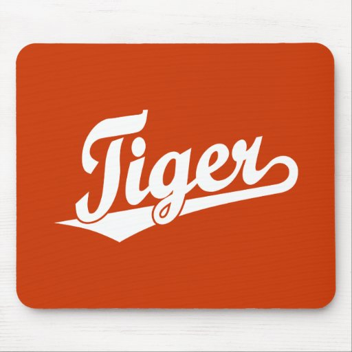 Tiger Script Logo in White Mousepad