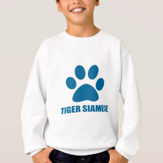 TIGER SIAMESE CAT DESIGNS SWEATSHIRT