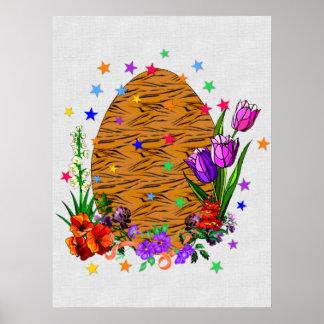 Tiger Skin Easter Egg Poster
