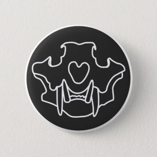 Tiger Skull (White) button