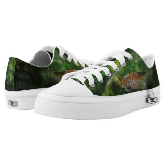 Tiger Spirit on Jungle Background Low Tops