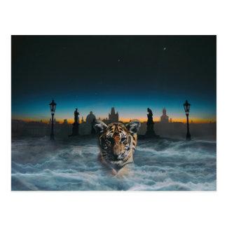 tiger spirit postcard