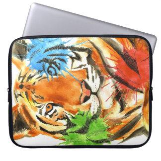 Tiger Splatter Laptop Sleeve