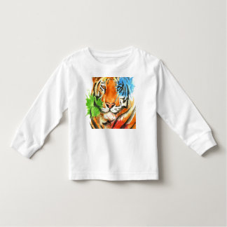 Tiger Splatter Toddler T-Shirt