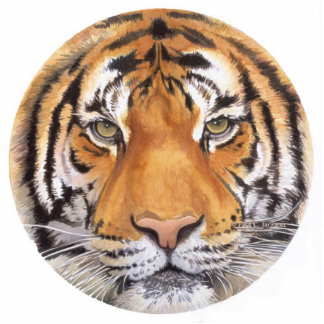 """Tiger Spot"" Tiger Face Watercolor Art Photo Sculpture Decoration"