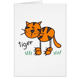 Tiger Stick Figure Card