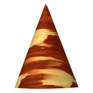 Tiger Stripe Bamboo Wood Grain Look Party Hat