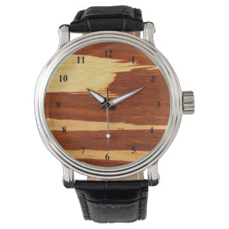 Tiger Stripe Bamboo Wood Grain Look Watches