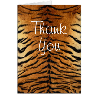 Tiger Stripe Fur Print Greeting Card
