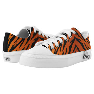 Tiger Striped lace ups - go wild tigers! Low Tops