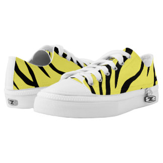 Tiger-striped Low Tops