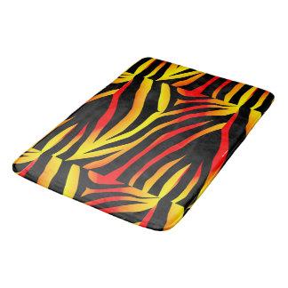 Tiger Stripes Animal Print Pattern Bath Mat