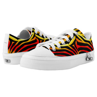 Tiger Stripes Animal Print Pattern Laced Sneakers
