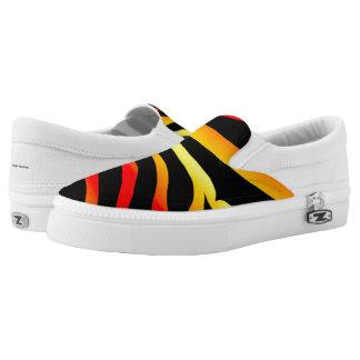 Tiger Stripes Animal Print Pattern Shoes
