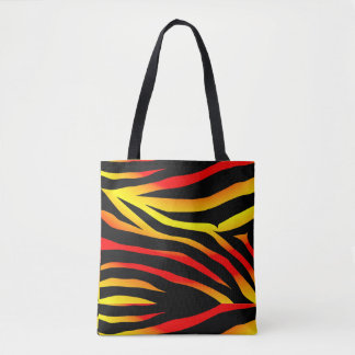 Tiger Stripes Animal Print Pattern Tote Bag