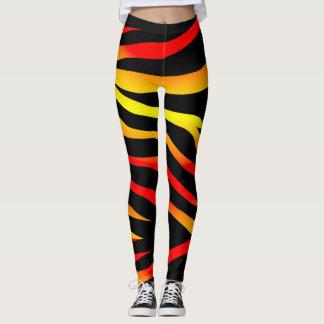 Tiger Stripes Animal Print Women's Leggings