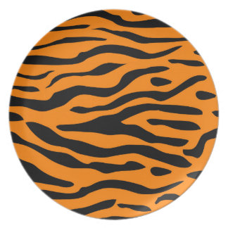 Tiger Stripes - bold tiger striped plates
