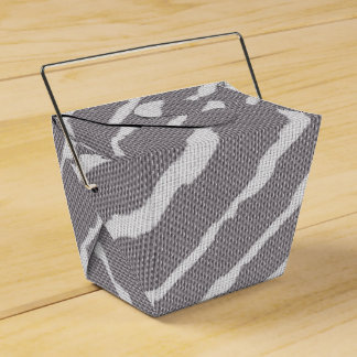 Tiger Stripes Gray Canvas Look Wedding Favour Box