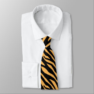Tiger Stripes Pattern Tie