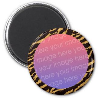 tiger stripes photo frame magnet