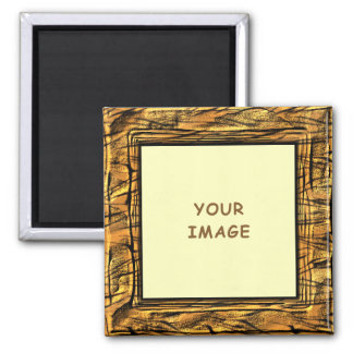 Tiger Stripes Photo Frame Magnet