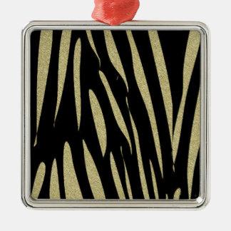 Tiger Stripes Print Wild Safari Design Metal Ornament