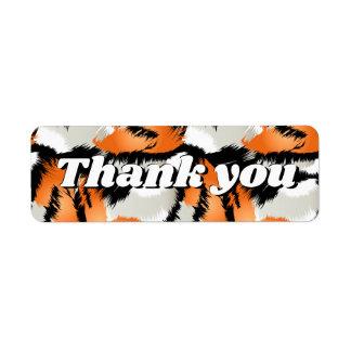 Tiger stripes return address label