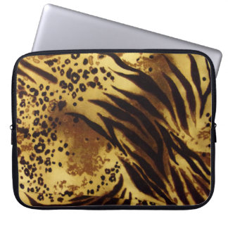 Tiger Stripes Safari Pattern Laptop Sleeve